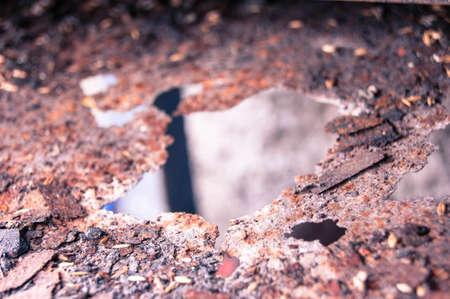oxidado: Rusty metal textura de la superficie