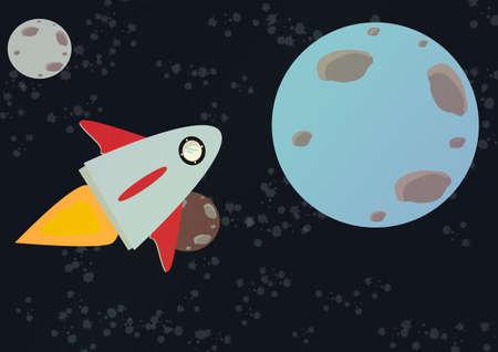 space rocket crossing