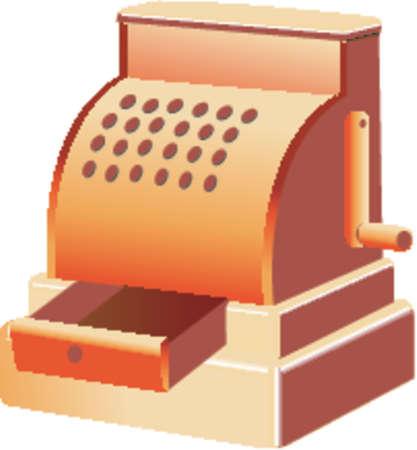 Antique Cash Register Stock Vector - 507662