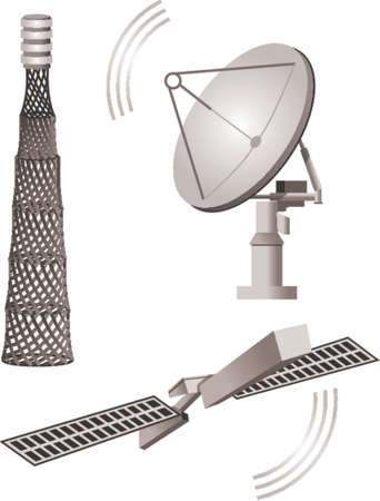 vector download: Satellite - telecommunications