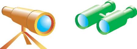 Telescope and spyglass Vector
