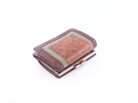 Wallet with coins photo