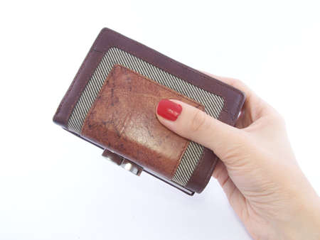 Womans hand holding wallet 2 photo