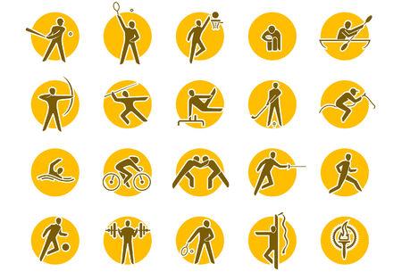 Summer sports icon set