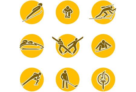 winter sports icon set Vektoros illusztráció
