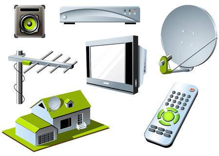 Système de télévision - télécommande, télévision par satellite et