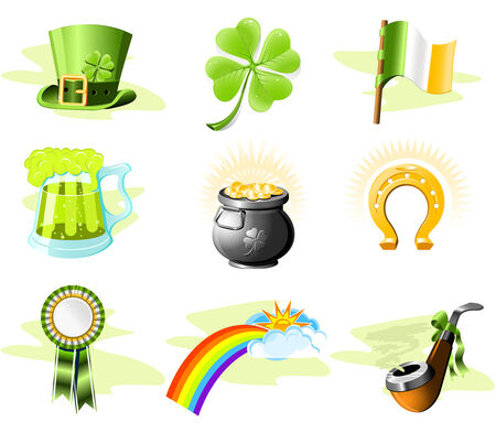 St. Patrick's Day icon set Stock Vector - 5213198