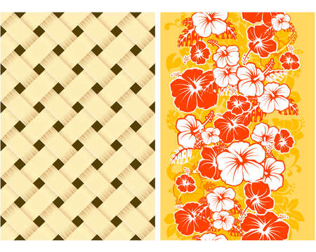 hawaiian culture: Hawaiian Floral Seamless Background with Hibiscus