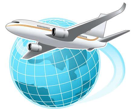 avioncitos: Por todo el mundo Vectores