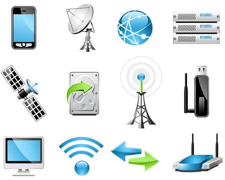 Pictogrammen voor draadloze technologie