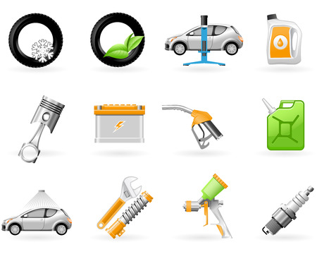 Car service and Repairing icon set Stock Vector - 8329576