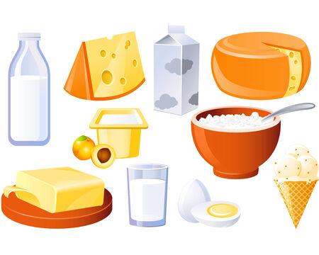 Formaggio, latte, burro e latticini e pollame prodotti