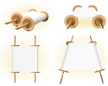 Torah (Bible Scrolls) Illustration