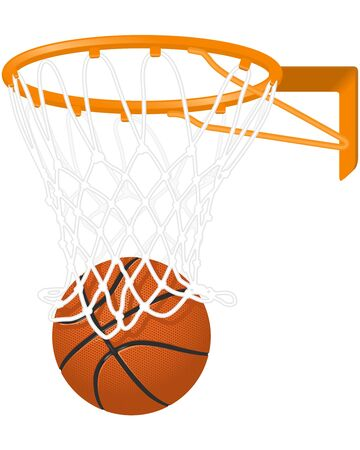 Basketball hoop and ball Stock Vector - 9332323