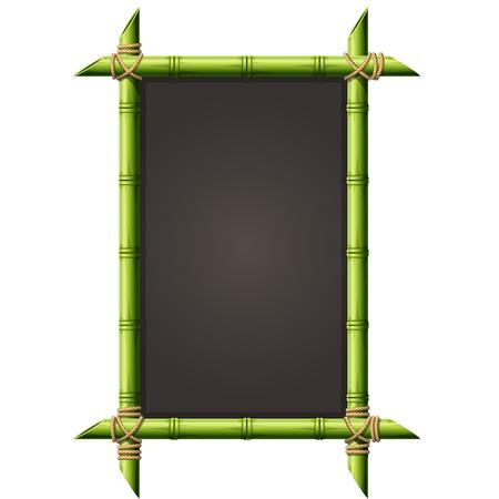 Blackboard in vierkante bamboe frame - menu bord