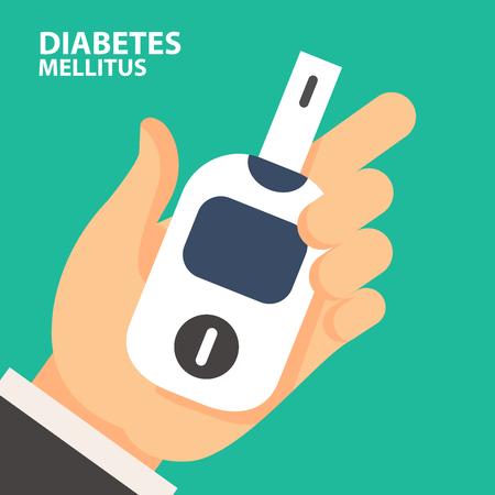 World Diabetes Day - blood sugar test with Glucose Meter