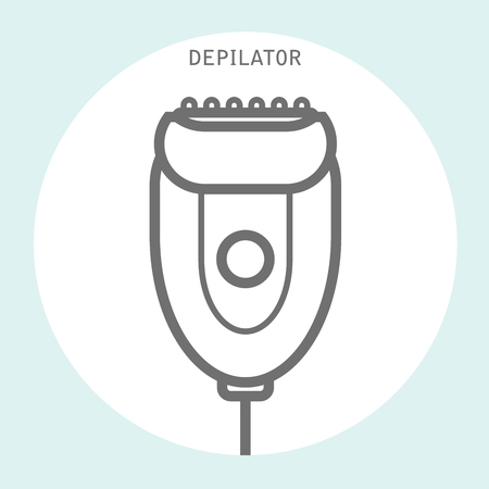 Depilator icon in linear style - electric hair depilator outline Ilustracja