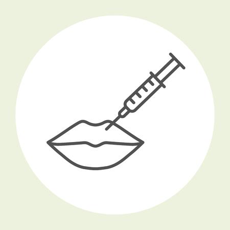 Lips  injection icon - hyaluronic acid lips injection