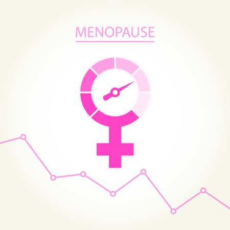 Menopause concept with woman gender sign -  climax, climacteric female icon Banque d'images - 124939035
