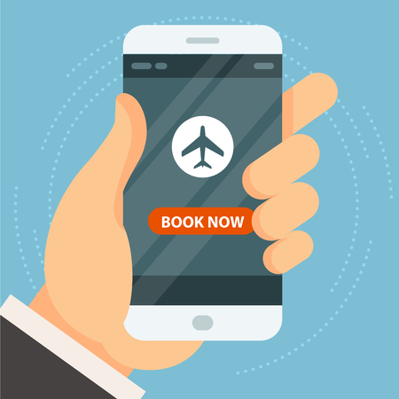 Book your flight - airplane ticket booking and buy, online reservation Banque d'images - 124939040