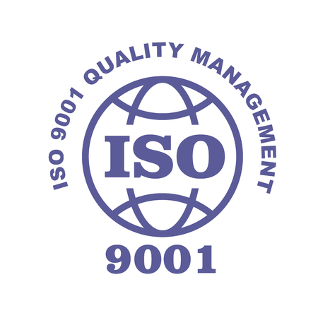 ISO 9001 stamp sign - quality management systems, QMS standard