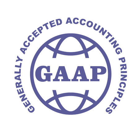 GAAP stamp - Generally Accepted Accounting Principles emblem