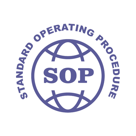 SOP stamp - Standard operating procedure emblem Illustration