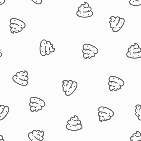Seamless pattern of poops - excrement backgrouns in simple style Illustration
