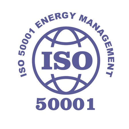 ISO 50001 stamp sign - Energy management systems standard