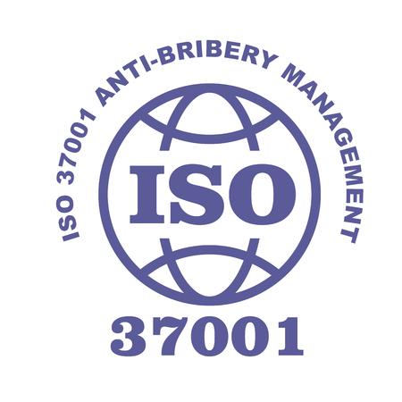 ISO 37001 stamp sign - anti-bribery management systems standard Vektoros illusztráció