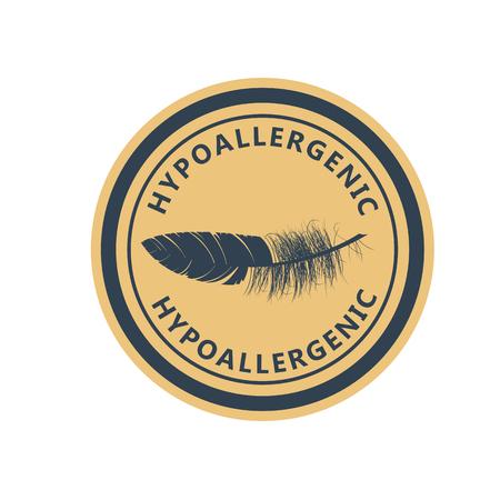 Hypoallergenic tested product  - label for hypoallergenic package, dermatology test emblem for sensitive skin Banco de Imagens - 132284405