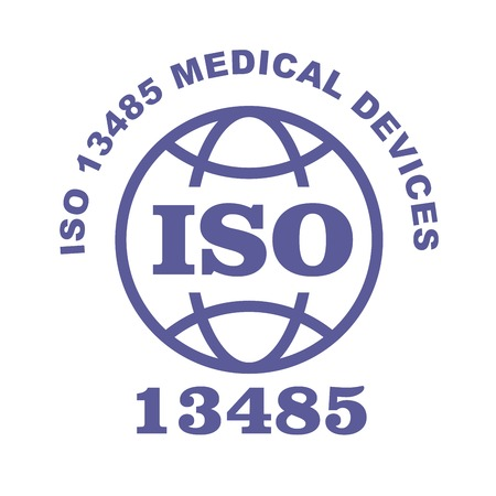 ISO 13485 stamp sign - medical devices, quality management systems and requirements for regulatory purposes