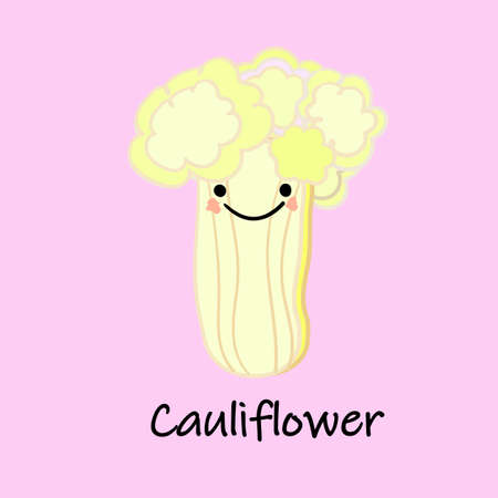 cute cartoon vegetables with smiles on faces and emotions. CARDS FOR CHILDREN'S EDUCATION.Cute vegetable character. Vector illustration isolated