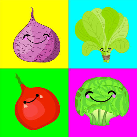 A game for children of preschool age. Card for the development and training of children's memory. Cards on the subject of vegetables. Vector illustration