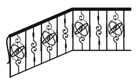 fences, railings and grates. Forged items and products for home interior and landscape design
