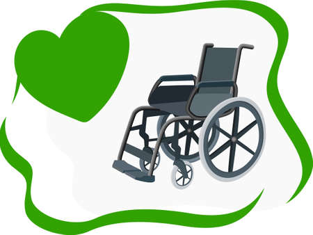 Wheelchair design concept, wheelchair rental. Can be used for website and mobile site and application. Vector illustration