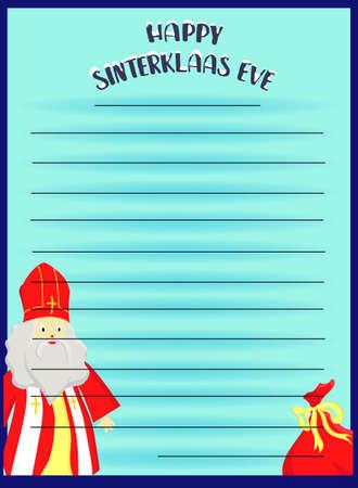 flat illustration of Sinterklaas with copy space Illustration