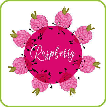 Raspberry. berry company logo. Pink color Fashion style
