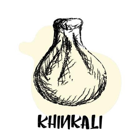 Khinkali. Georgian cuisine. Ilustração
