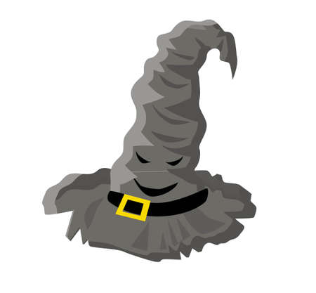 Talking hat. movie character. A magical item. Wizards clothes.