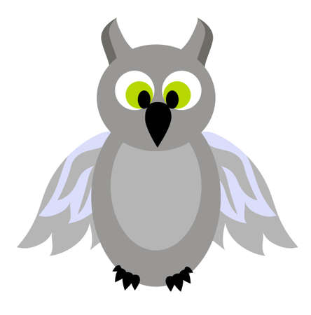 Owl vector illustration isolated on white background..