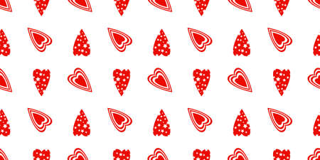 Seamless Pattern For Valentines Day. The 14th of February. St. Valentines Day. Heart..