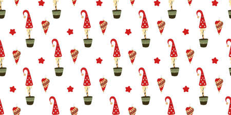 Pattern for christmas and new year. Christmas tree decorative.