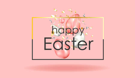 EASTER SALE. banner. chicken on a yellow background. Happy easter. Poster or postcard horizontal format. Spring break. Bright colours. Realistic design.