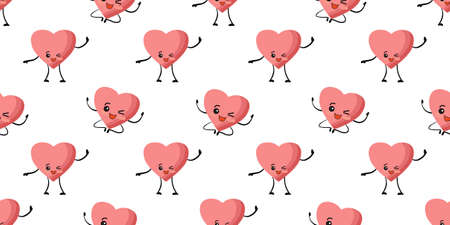 patterns for Valentines Day. Love and hearts, February 14th. Pattern for textiles and packaging paper. Romantic motives. Stockfoto