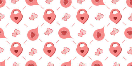 Seamless Pattern For Valentines Day. The 14th of February. St. Valentines Day. Heart.