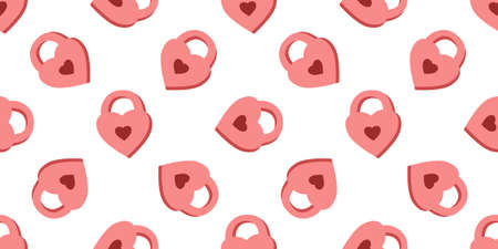 pattern for Valentines Day. Love and hearts, February 14th. Pattern for textiles and packaging paper. Romantic motives. Stockfoto