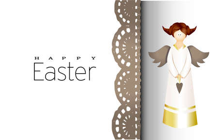 Easter card. Banner or poster for Easter. Translation from Russian Happy Easter.