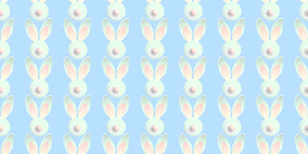Easter pattern. Bunny Rabbit. Tender blue background. Wrapping paper design. Bunny. Happy easter background ..
