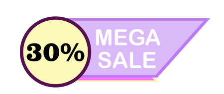 Price tags vector . Ribbon sale banners isolated. New collection of offers.